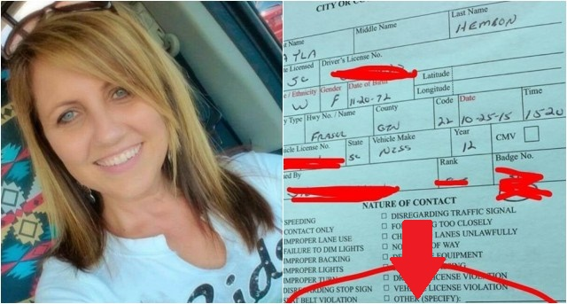 Woman SHOCKED By What Officer Wrote At Bottom Of Her Speeding Ticket...