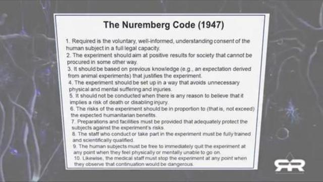 The Nuremberg Code ( 1947) – Dr. Charlie Ward