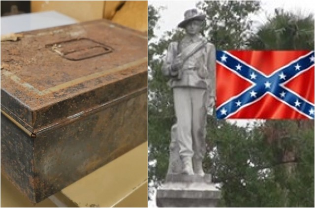 WHOA! 100 Year Old Confederate Time Capsule Found In Florida- LOOK What Was Found In It...