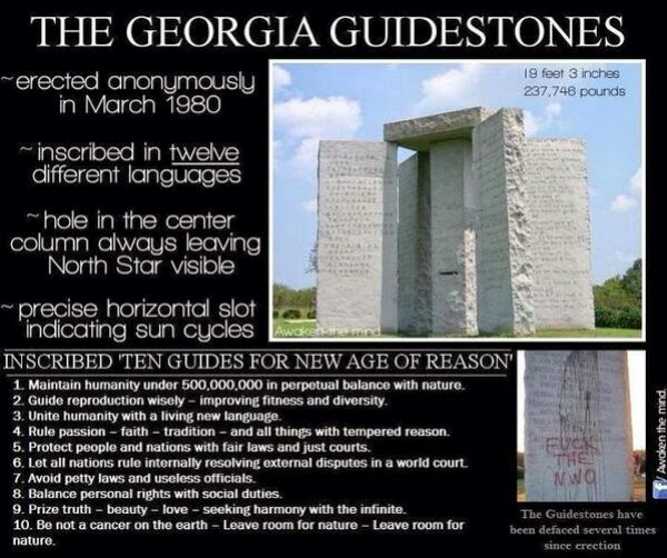 Share this to 5 Patriots! Time To Take The GA Guidestones Down NOW! #ReallySmart